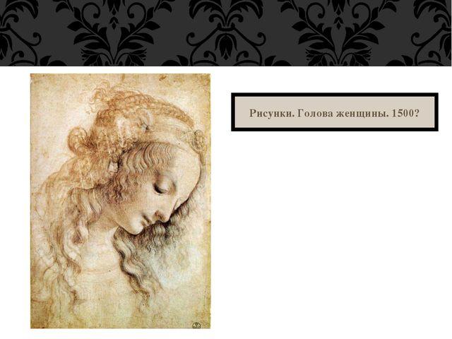 Рисунки.Голова женщины. 1500?