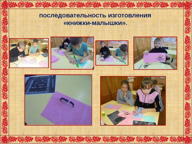 последовательность изготовления «книжки-малышки».