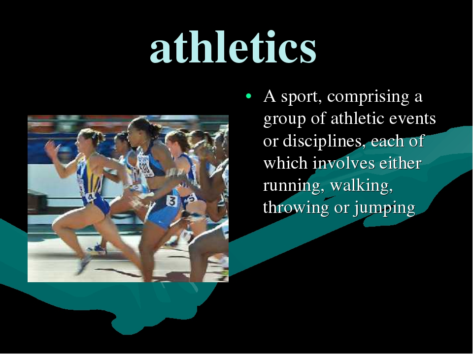 athletics A sport, comprising a group of athletic events or disciplines, each...