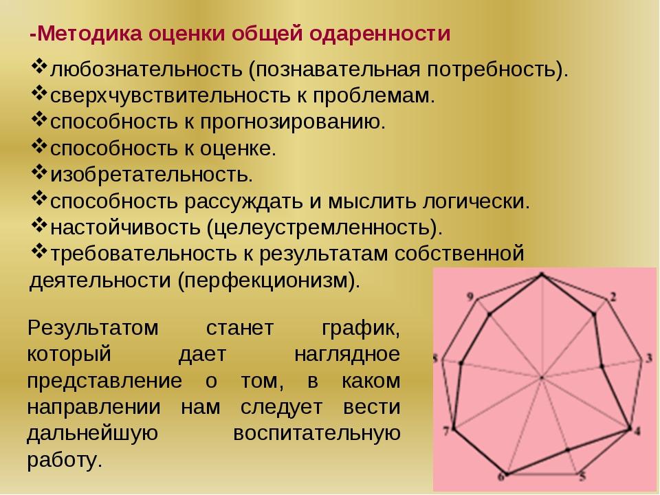 -Методика оценки общей одаренности любознательность (познавательная потребнос...