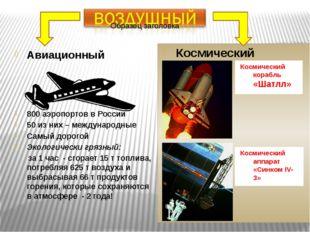 Авиационный 800 аэропортов в России 50 из них – международные Самый дорогой Э