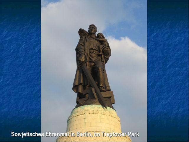 Sowjetisches Ehrenmal in Berlin, im Treptower Park