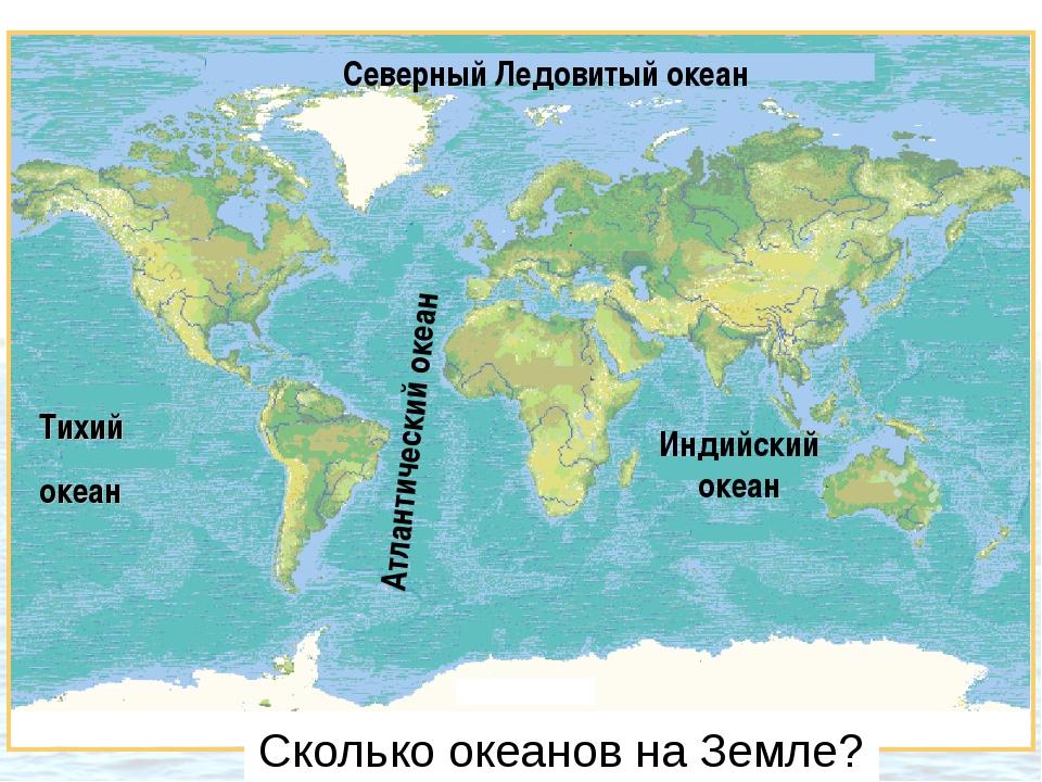 Тихий океан Индийский океан Северный Ледовитый океан Атлантический океан Скол...