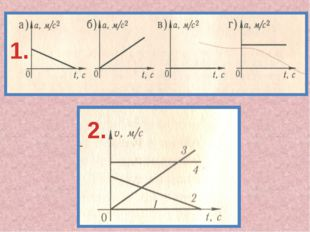 1. 2. Определите график равномерного прямолинейного движения (ответ: рис.1- в
