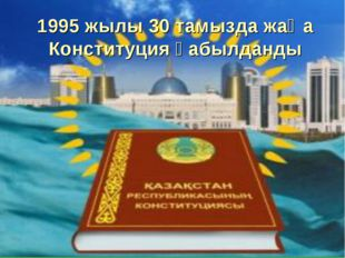 1995 жылы 30 тамызда жаңа Конституция қабылданды