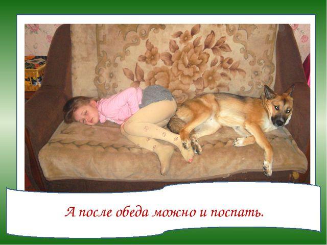 А после обеда можно и поспать.