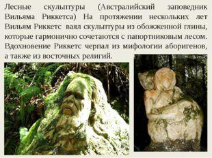 Лесные скульптуры (Австралийский заповедник Вильяма Риккетса) На протяжении н