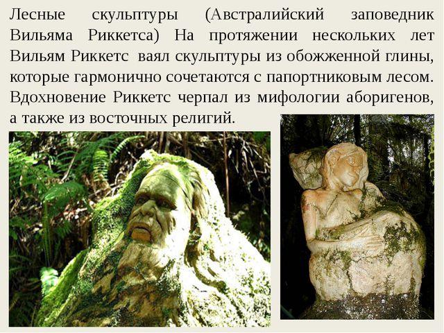 Лесные скульптуры (Австралийский заповедник Вильяма Риккетса) На протяжении н...
