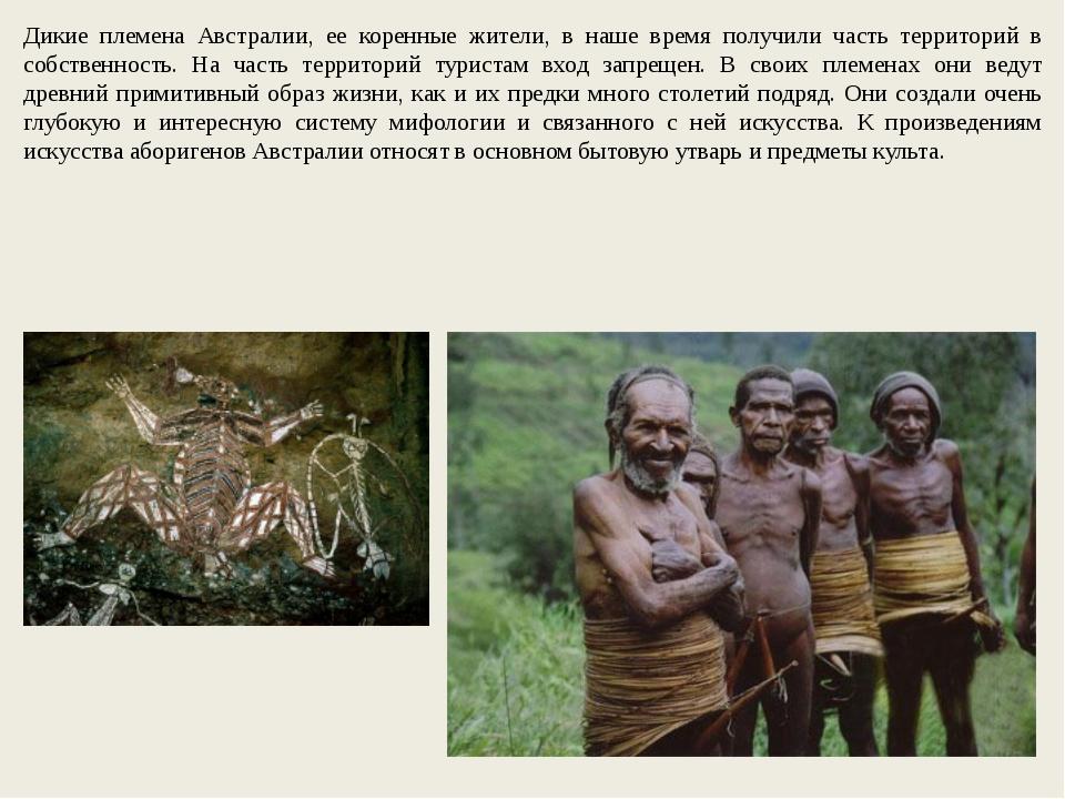 Дикие племена Австралии, ее коренные жители, в наше время получили часть терр...