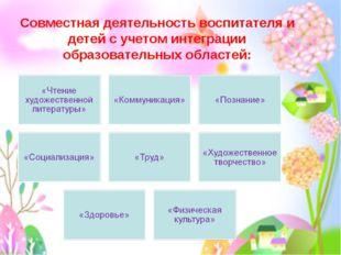 Вечканова (Фостовец) С.Г. Совместная деятельность воспитателя и детей с учето