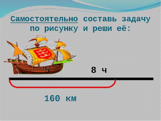 Самостоятельно составь задачу по рисунку и реши её: 8 ч 160 км