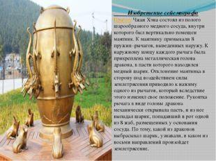 Изобретение сейсмографа ПриборЧжан Хэна состоял из полого шарообразного мед