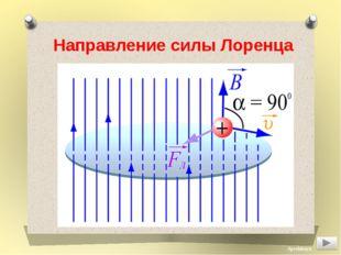 Направление силы Лоренца Aprelskaya