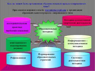 Рефлексивная При анализе мирового опыта выявлены подходы к организации образ