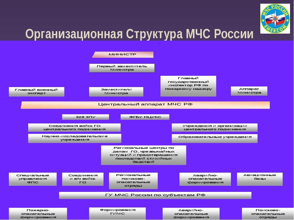 Организационная Структура МЧС России