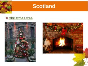 Scotland Christmas tree Christmas fireplace