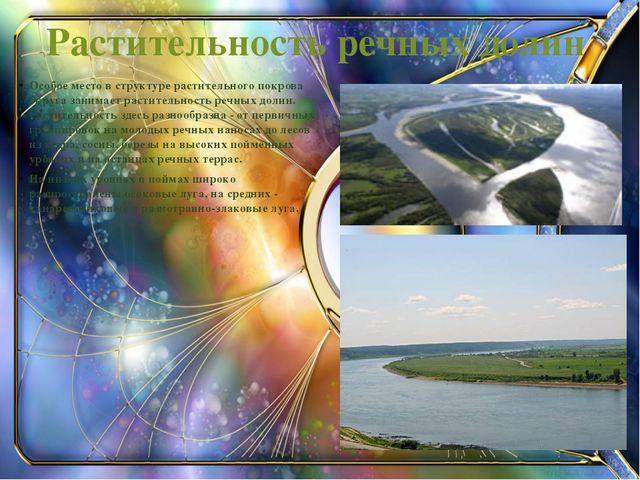 Растительность речных долин Особое место в структуре растительного покрова ок...