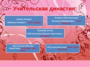 Учительская династия: