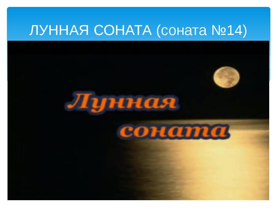 ЛУННАЯ СОНАТА (соната №14)