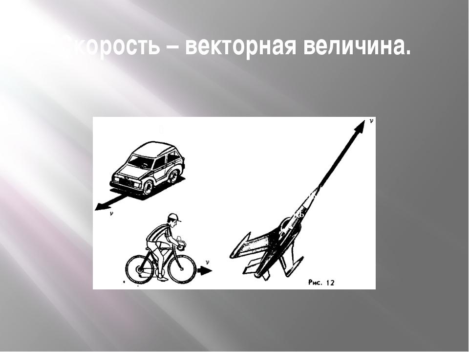Скорость – векторная величина.