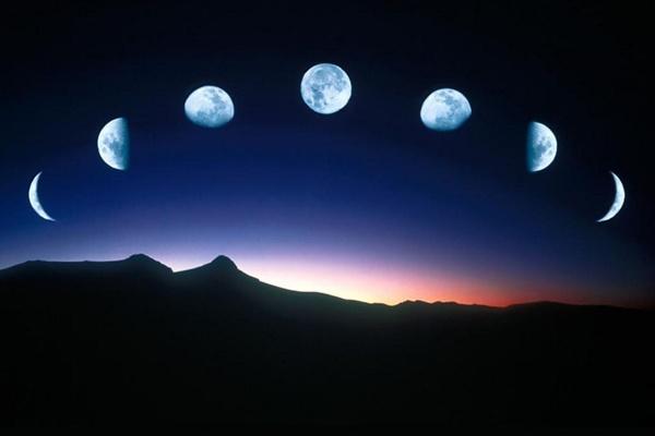 луна меняет форму