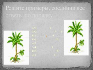 5+1 2 3+2 7 1 8-1 4 8+2 10 4-2 5-4 9 8+1 8 4-1 3 Решите примеры, соединив все
