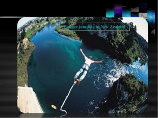 Bungee jumping in New Zealand