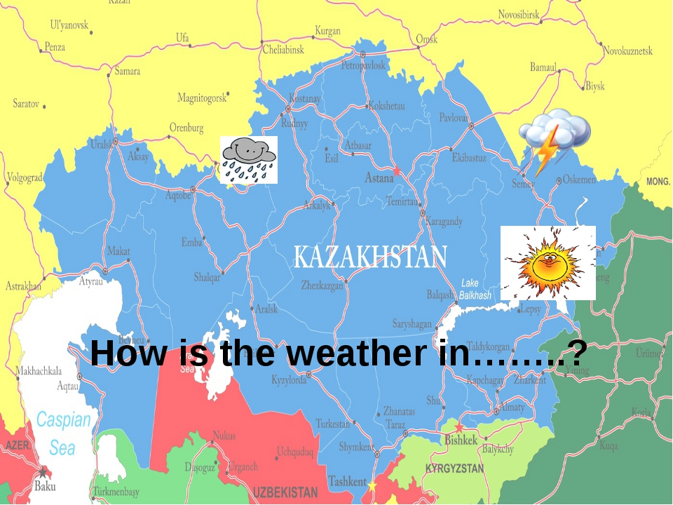 How is the weather in……..?