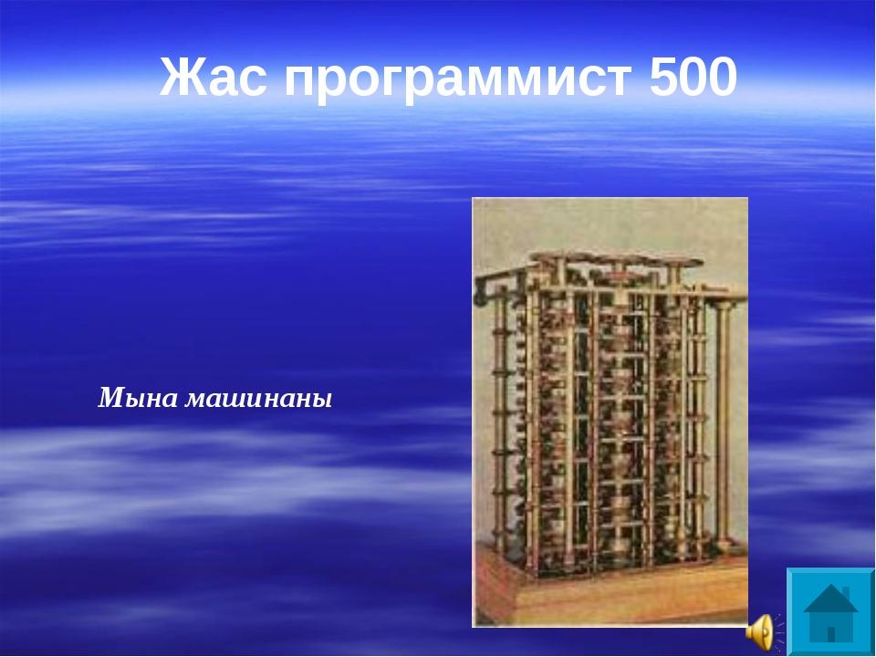 Мына машинаны Жас программист 500
