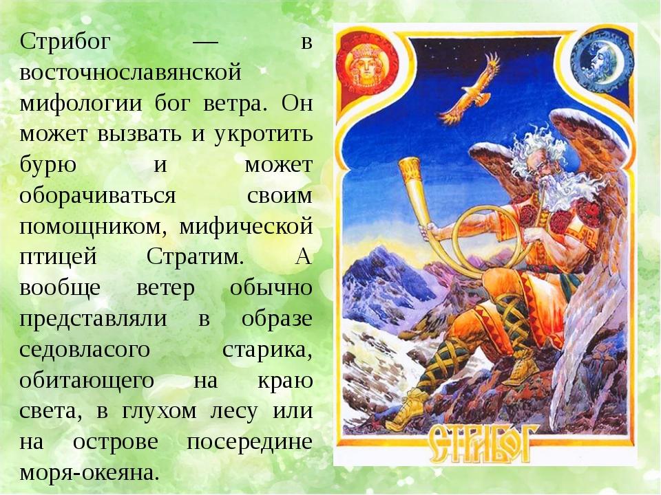 Стрибог — в восточнославянской мифологии бог ветра. Он может вызвать и укроти...