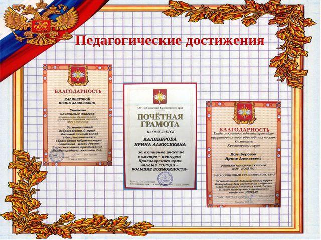 Педагогические достижения Победитель конкурсов