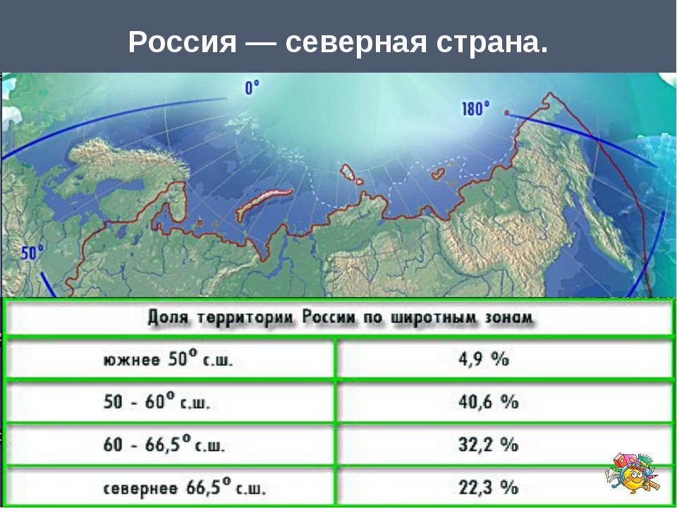 Россия — северная страна.