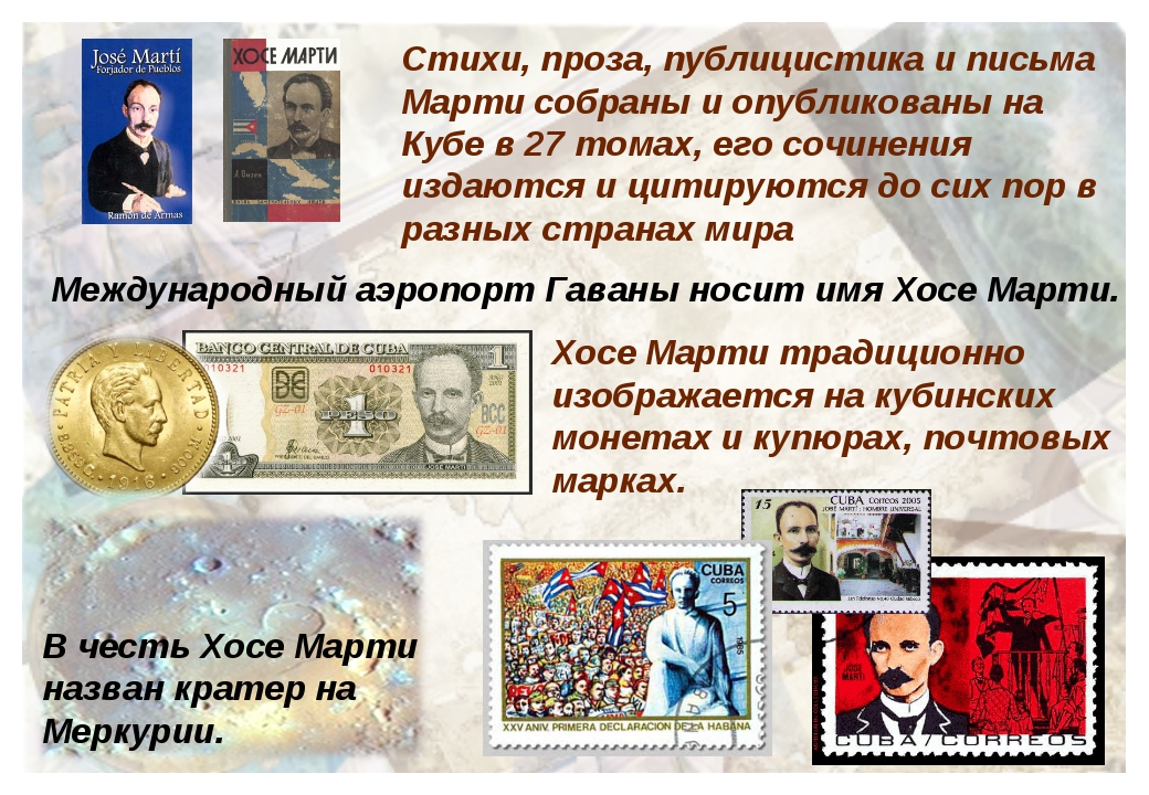 Стихи, проза, публицистика и письма Марти собраны и опубликованы на Кубе в 27...