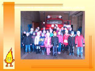 Экскурсия в пожарную часть нашего района