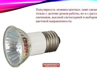 Популярность люминесцентных ламп связана не только с долгим сроком работы, но