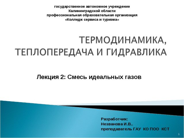 * государственное автономное учреждение Калининградской области профессиональ...