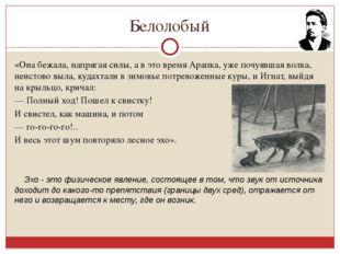 Белолобый «Она бежала, напрягая силы, а в это время Арапка, уже почуявшая вол