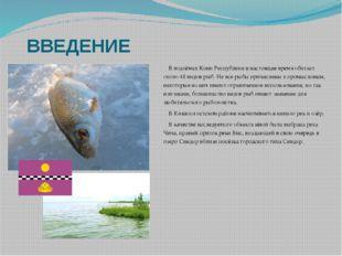 ВВЕДЕНИЕ  В водоёмах Коми Республики в настоящее время обитает около 48 видо