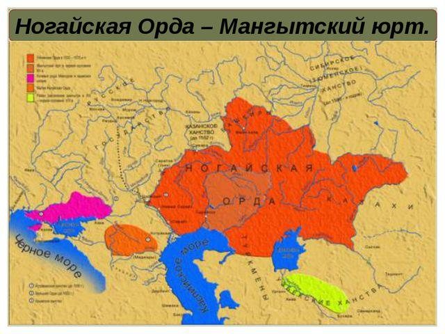 Ногайская Орда – Мангытский юрт.