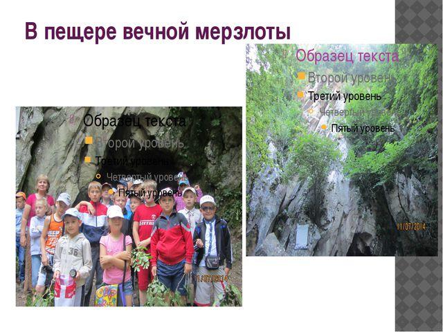 В пещере вечной мерзлоты