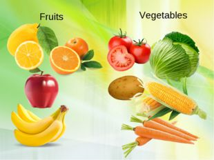 Fruits Vegetables