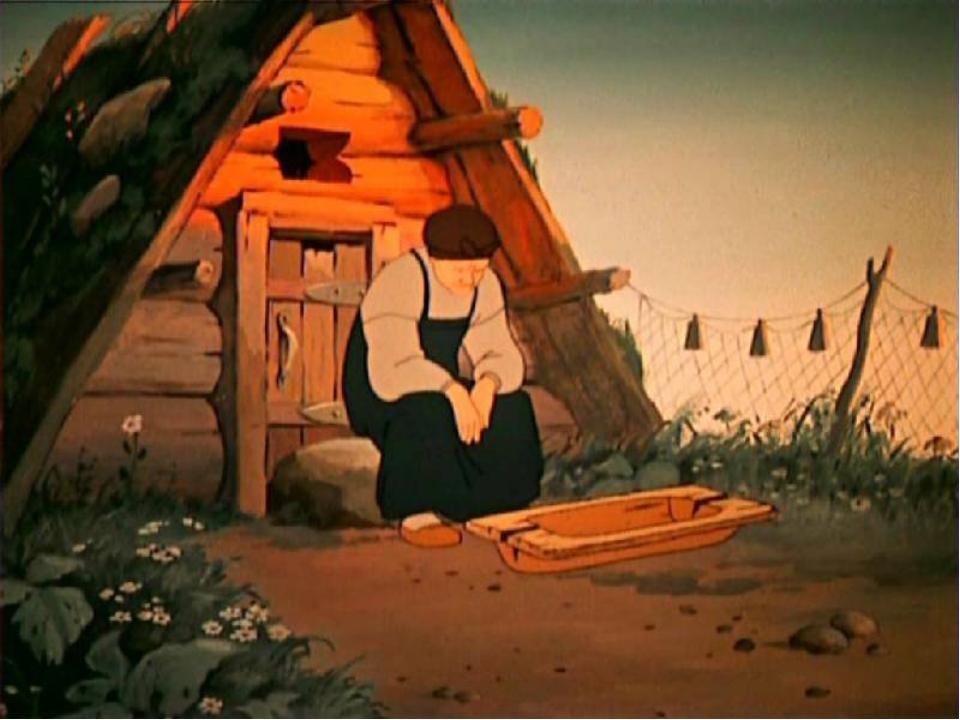 картинка дома из сказки золотая рыбка апельсина