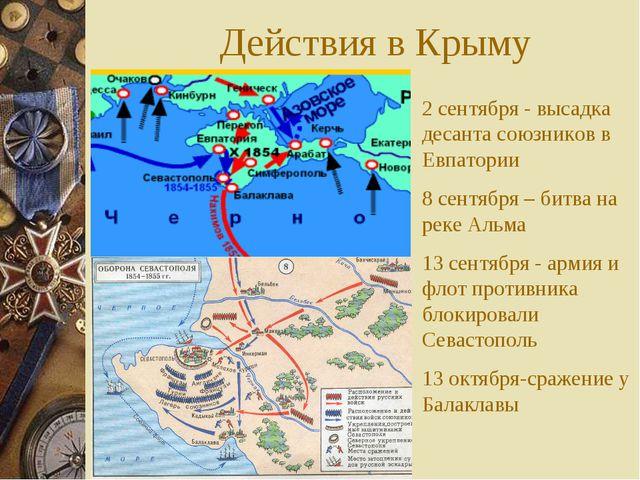 Действия в Крыму 2 сентября - высадка десанта союзников в Евпатории 8 сентябр...