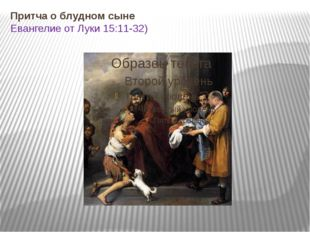 Притча о блудном сыне Евангелие от Луки 15:11-32)