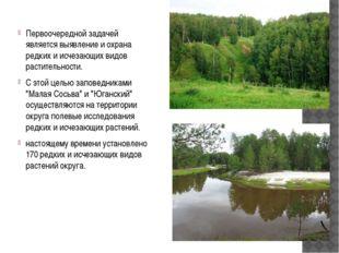 Первоочередной задачей является выявление и охрана редких и исчезающих видов