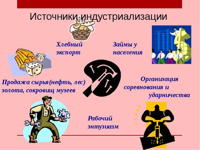 Займы у населения Хлебный экспорт Продажа сырья(нефть, лес) золота, сокровищ...