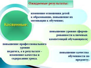 изменение отношения детей к образованию, повышение их мотивации к обучению; п