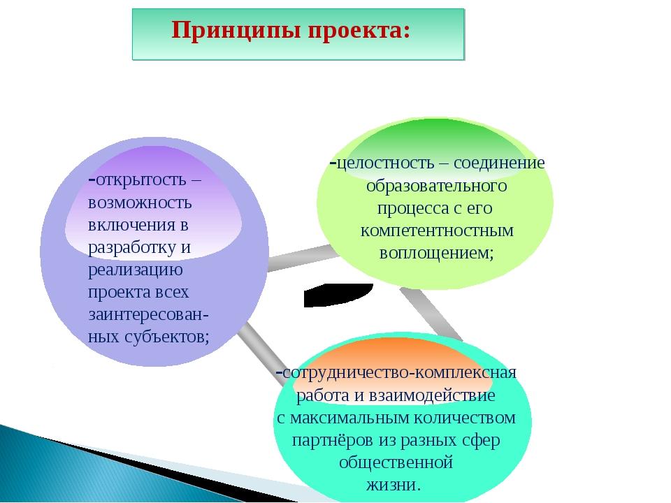 Принципы проекта: