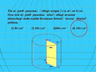 Тік төртбұрыштың қабырғалары 2 см және 4 см. Осы тік төртбұрыштың кіші қабырғ