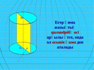Егер қима жазықтық цилиндрдің осі арқылы өтсе, онда ол осьтік қима деп аталады